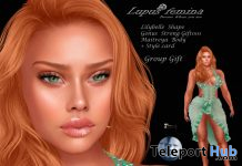 Lilybelle Shape For GENUS Head Strong Face April 2020 Group Gift by Lupus Femina - Teleport Hub - teleporthub.com