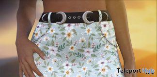 Belted Spring Skirt April 2020 Group Gift by DarkFire - Teleport Hub - teleporthub.com