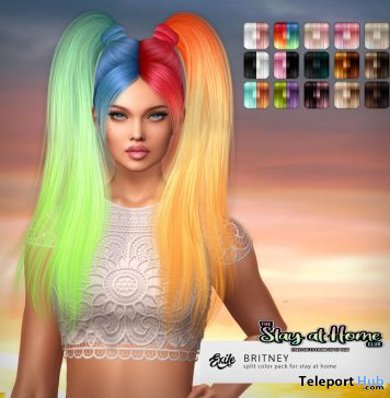 Britney Split Hair Color Edition April 2020 Gift by Exile - Teleport Hub - teleporthub.com