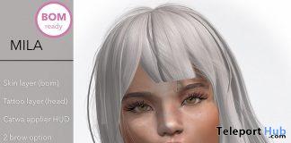 Mila Skin For Catwa & BOM Plus Shape April 2020 Gift by Mignonne - Teleport Hub - teleporthub.com