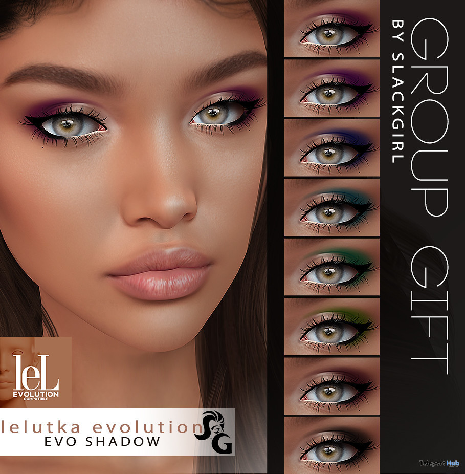 HD Eyeshadow Set For Lelutka Evolution Line April 2020 Group Gift by SlackGirl - Teleport Hub - teleporthub.com