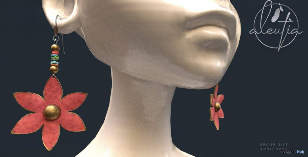 Spring Earrings April 2020 Group Gift by [Aleutia] - Teleport Hub - teleporthub.com