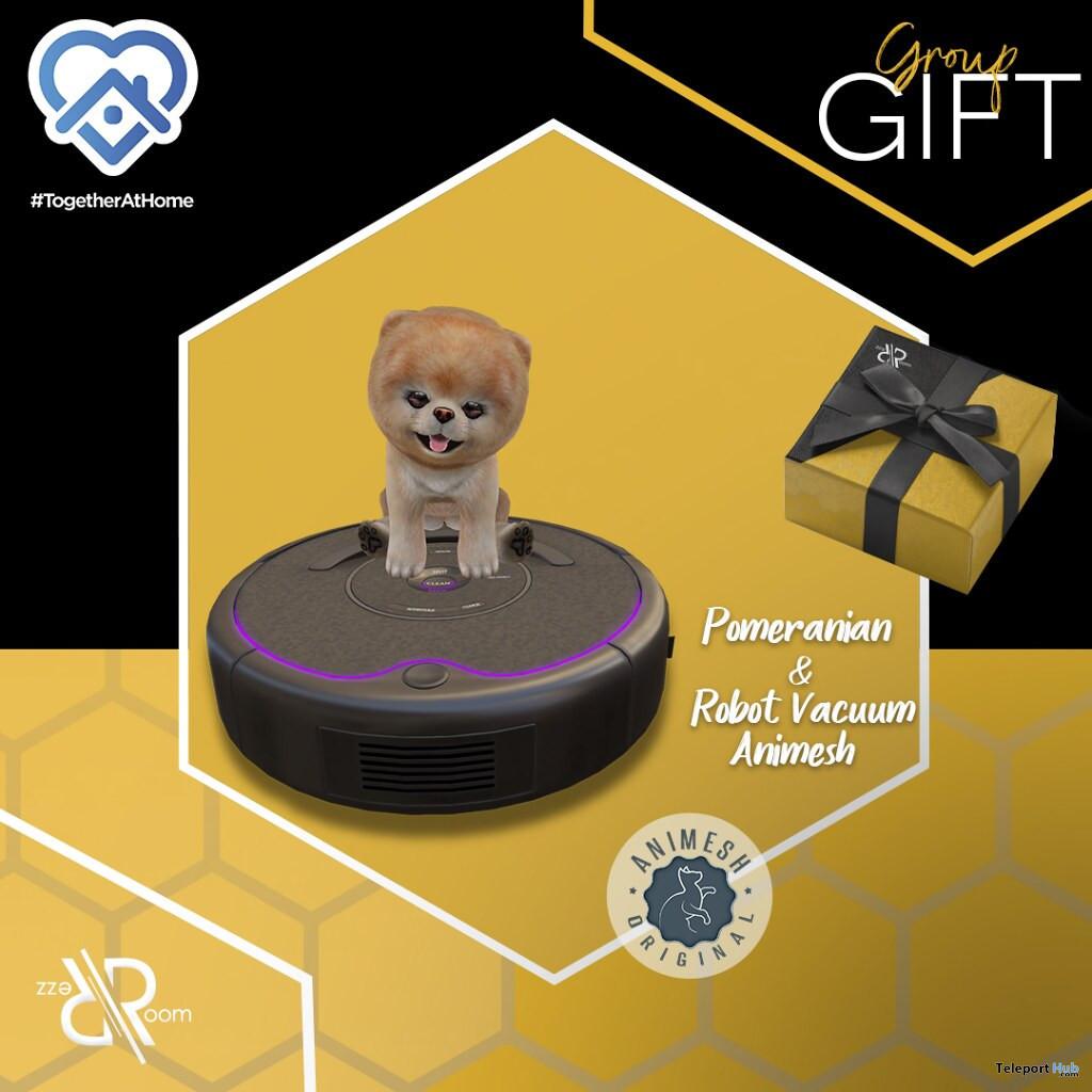 Pomeranian & Robot Vacuum Animesh April 2020 Group Gift by Rezz Room - Teleport Hub - teleporthub.com