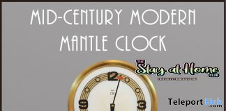 Mid-Century Modern Mantle Clock April 2020 Gift by Demimonde - Teleport Hub - teleporthub.com
