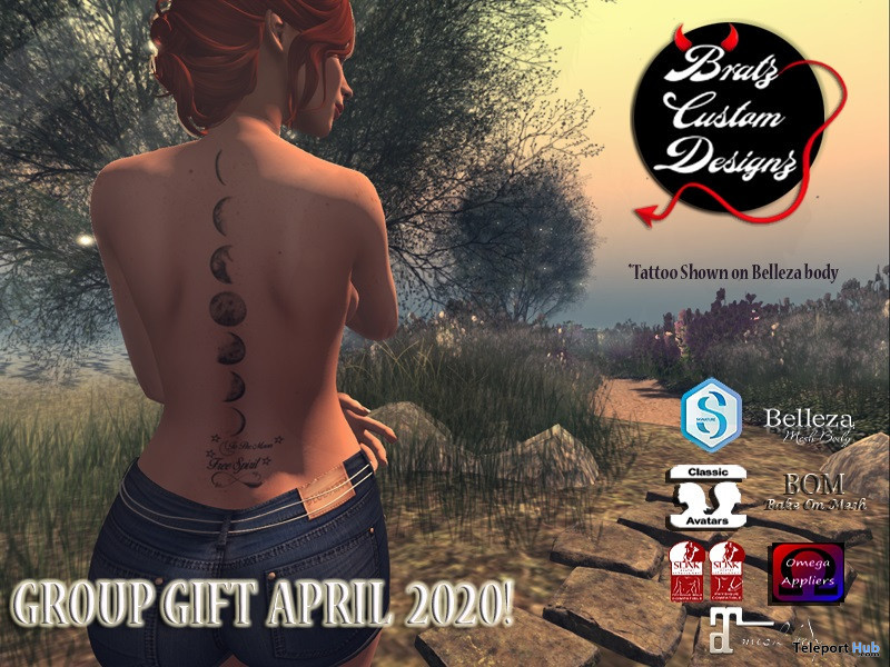 Back Tattoo April 2020 Group Gift by Bratz Custom Designz - Teleport Hub - teleporthub.com