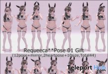 Bento Pose Pack 01 April 2020 Gift by Requeeca - Teleport Hub - teleporthub.com