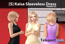New Release: [S] Kaisa Sleeveless Dress by [satus Inc] - Teleport Hub - teleporthub.com