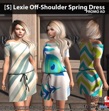 New Release: [S] Lexie Off-Shoulder Spring Dress by [satus Inc] - Teleport Hub - teleporthub.com