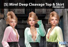 New Release: [S] Mirel Deep Cleavage Top & Skirt by [satus Inc] - Teleport Hub - teleporthub.com