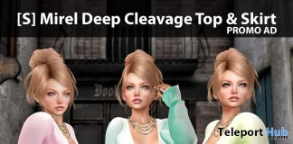 New Release: [S] Mirel Deep Cleavage Top & Skirt by [satus Inc] - Teleport Hub - teleporthub.com
