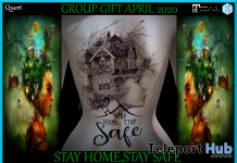 Stay Home, Stay Safe Back Tattoo April 2020 Group Gift by QUERT - Teleport Hub - teleporthub.com