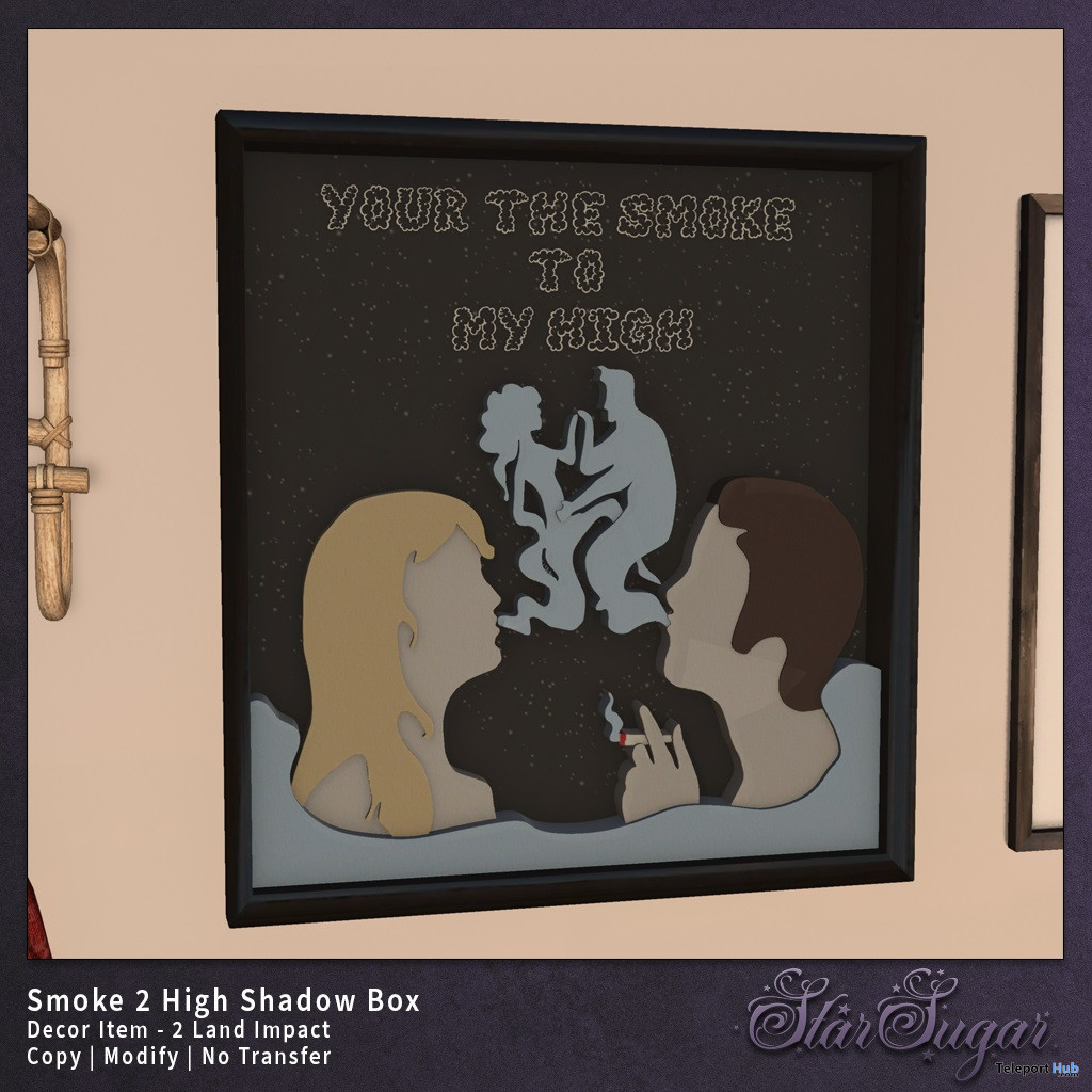 Smoke2High Shadow Box April 2020 Gift by Star Sugar - Teleport Hub - teleporthub.com
