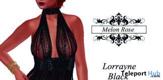 Lourayne Black Lingerie 1L Promo Gift by Melon Rose - Teleport Hub - teleporthub.com