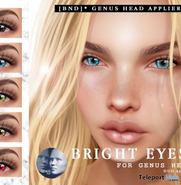 Bright Eyes Applier For Genus Mesh Head 5L Promo by Bird Next Door Shop - Teleport Hub - teleporthub.com