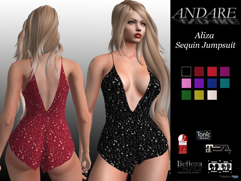 Aliza Sequin Jumpsuit April 2020 Group Gift by ANDARE - Teleport Hub - teleporthub.com