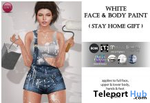 White Face & Body Paint May 2020 Gift by Izzie's - Teleport Hub - teleporthub.com