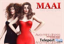 Ava & Ara Mini Dress Red & Teal May 2020 Group Gift by MAAI - Teleport Hub - teleporthub.com