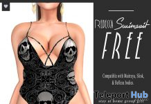 Rebecca Swimsuit Skulls May 2020 Gift by Paper.Sparrow - Teleport Hub - teleporthub.com