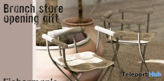 Fisherman's Chair Branch Store Opening May 2020 Gift by Cinoe - Teleport Hub - teleporthub.com