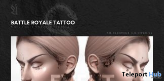 Battle Royale Tattoo Men & Women Jail Event May 2020 Gift by APOTHIC - Teleport Hub - teleporthub.com