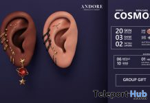 Cosmos Unisex Mesh Ears May 2020 Group Gift by ANDORE - Teleport Hub - teleporthub.com