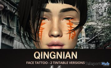 Qingnian Face Tattoo May 2020 Group Gift by Mad' - Teleport Hub - teleporthub.com
