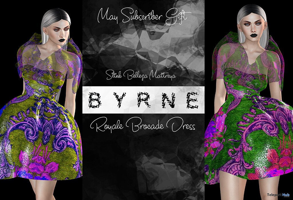 Royale Brocade Dress May 2020 Subscriber Gift by BYRNE - Teleport Hub - teleporthub.com