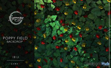 Poppy Field Backdrop May 2020 Gift by Synnergy - Teleport Hub - teleporthub.com