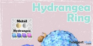 Hydrangea Ring May 2020 Group Gift by MINDS @ SaNaRae Event - Teleport Hub - teleporthub.com