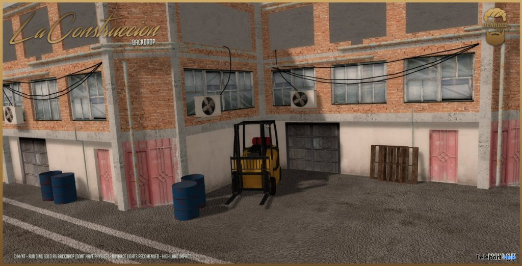 La Construccion Backdrop June 2020 Group Gift by The Bearded Guy - Teleport Hub - teleporthub.com