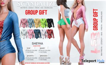 Sheyha Outfit Fatpack & Claudia Boots June 2020 Group Gift by SCANDALIZE x LSR - Teleport Hub - teleporthub.com