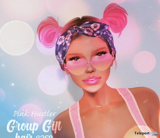 Hair 8259 June 2020 Group Gift by Pink Hustler - Teleport Hub - teleporthub.com