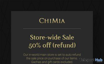 ChiMia Store-wide 50% Off Refund Sale 2020 - Teleport Hub - teleporthub.com
