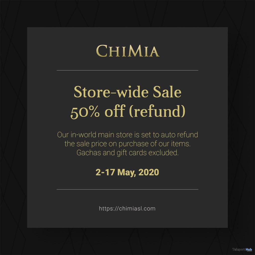 ChiMia Store-wide 50% Off Refund Sale 2020 - Teleport Hub - teleporthub.com