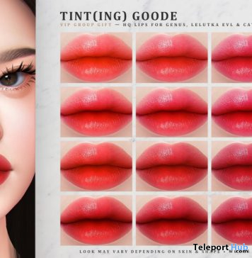Tint(ing) Goode Lips May 2020 Group Gift by IVES - Teleport Hub - teleporthub.com