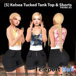 New Release: [S] Kelsea Tucked Tank Top & Shorts by [satus Inc] - Teleport Hub - teleporthub.com