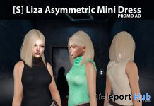 New Release: [S] Liza Asymmetric Mini Dress by [satus Inc] - Teleport Hub - teleporthub.com