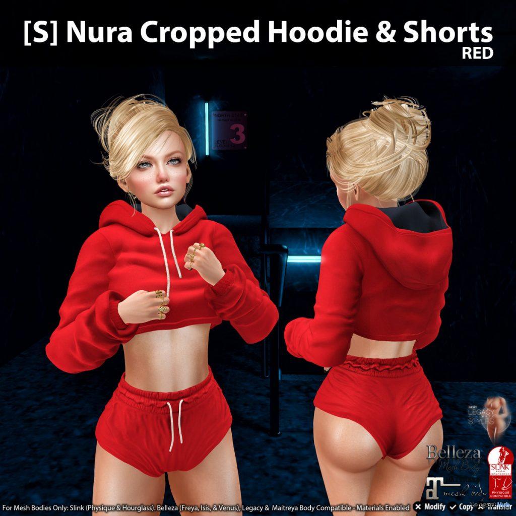 New Release: [S] Nura Cropped Hoodie & Shorts by [satus Inc] - Teleport Hub - teleporthub.com