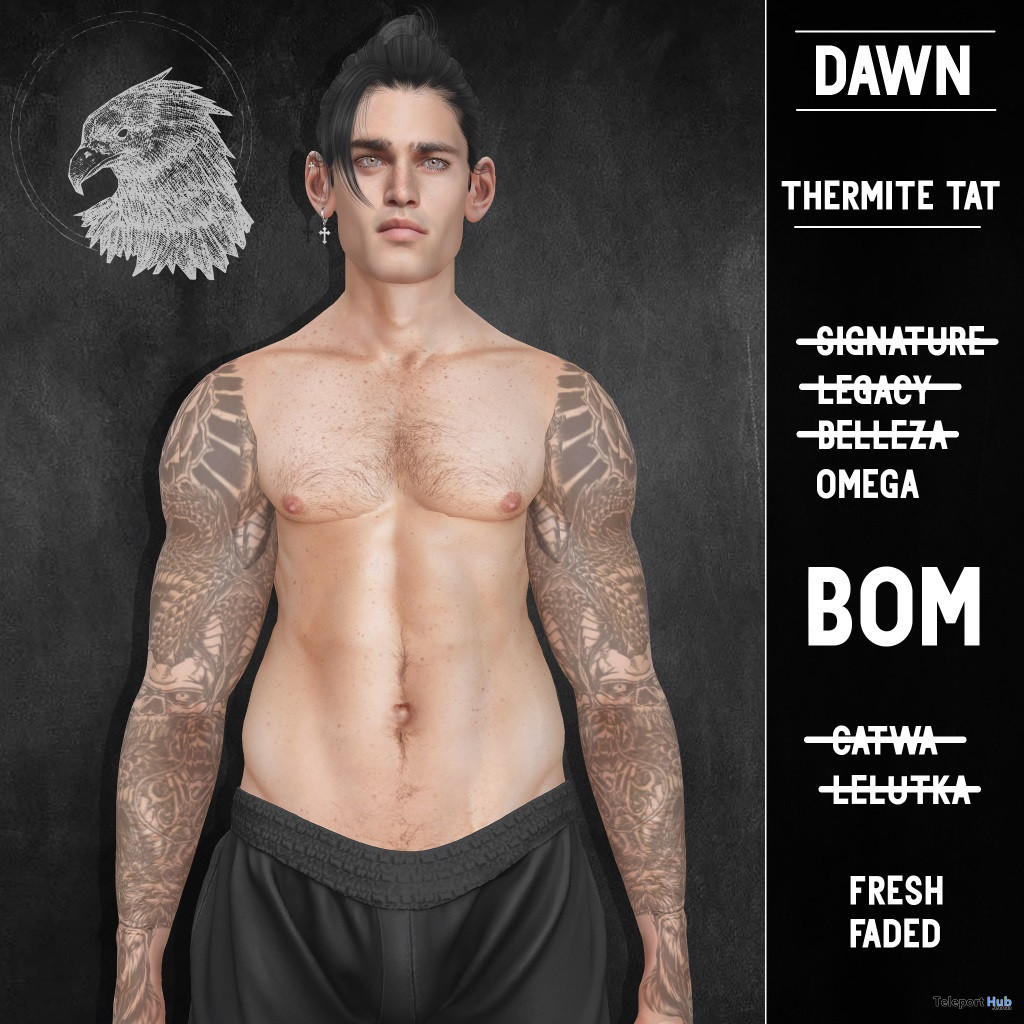 Thermite Tattoo May 2020 Group Gift by DAWN - Teleport Hub - teleporthub.com