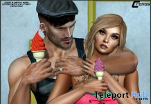My Ice Cream Couple Bento Pose With Prop May 2020 Group Gift by Cronos Poses - Teleport Hub - teleporthub.com