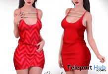 Naira Red Dress May 2020 Group Gift by Beyond - Teleport Hub - teleporthub.com