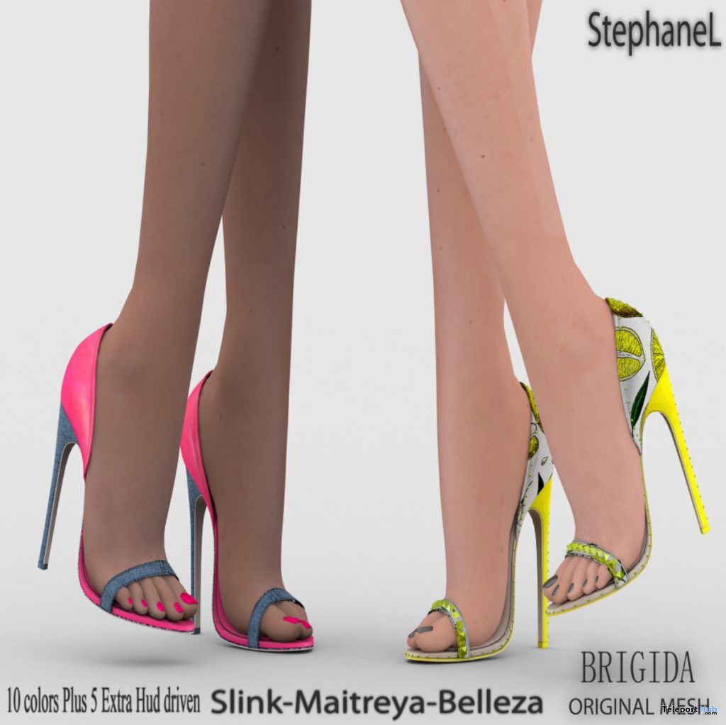 Brigida Heels May 2020 Group Gift by StephaneL - Teleport Hub - teleporthub.com
