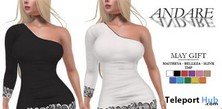 One Shoulder Mini Dress May 2020 Group Gift by ANDARE - Teleport Hub - teleporthub.com