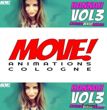 New Release: Hannah Vol 3 Bento Dance Pack by MOVE! Animations Cologne - Teleport Hub - teleporthub.com