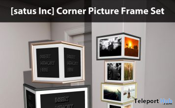 New Release: Corner Picture Frame Set by [satus Inc] - Teleport Hub - teleporthub.com