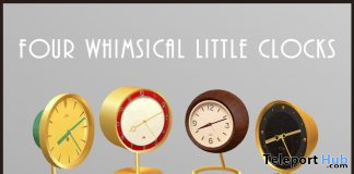 Four Whimsical Little Clock May 2020 Gift by Demimonde - Teleport Hub - teleporthub.com