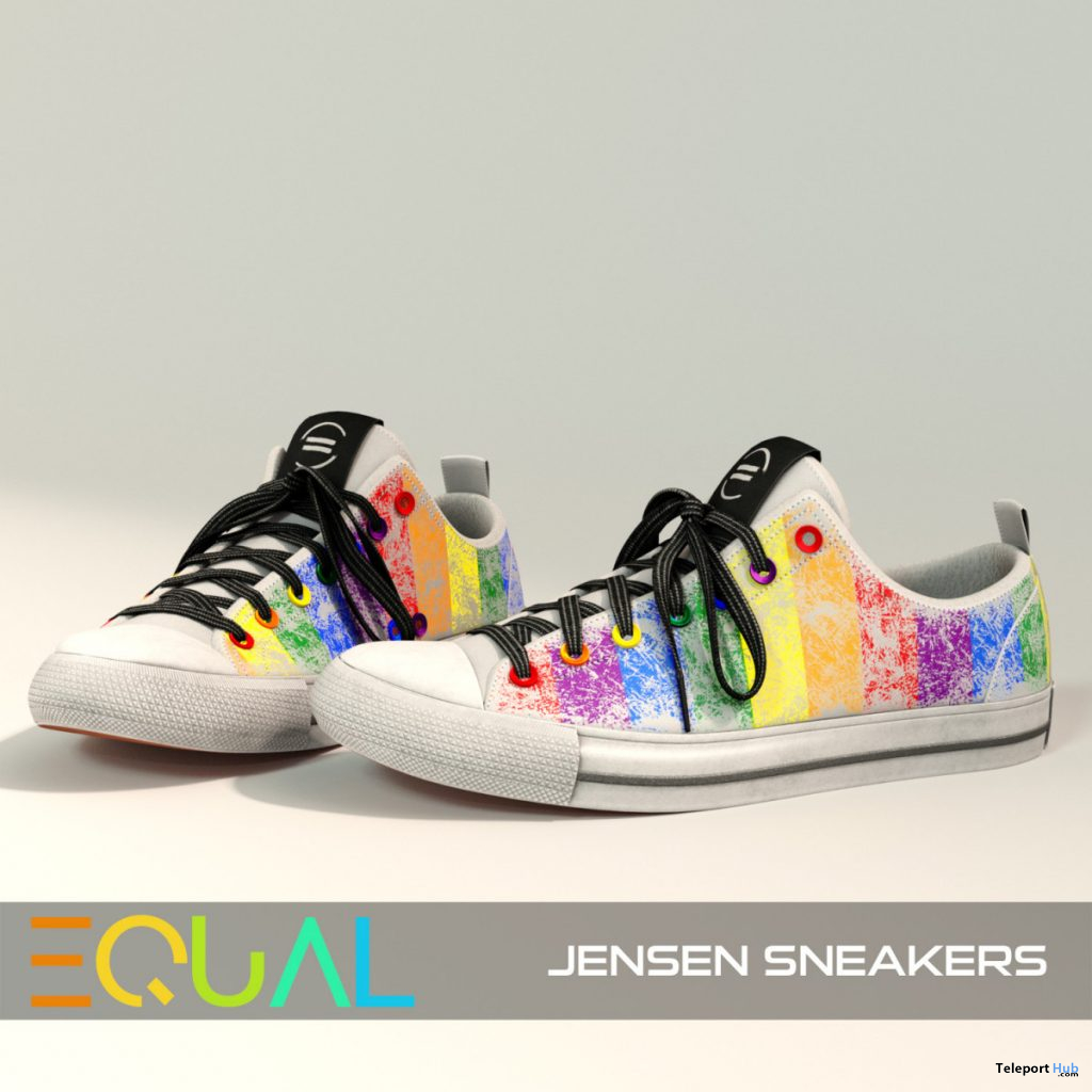 Jensen Sneakers Pride Edition June 2020 Group Gift by EQUAL - Teleport Hub - teleporthub.com