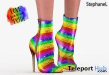 Mara Love Pride Shoes June 2020 Group Gift by StephaneL - Teleport Hub - teleporthub.com