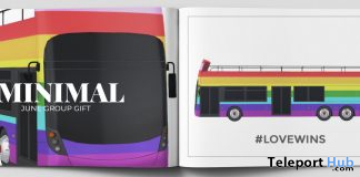 Love Wins Bus Prop June 2020 Group Gift by MINIMAL - Teleport Hub - teleporthub.com