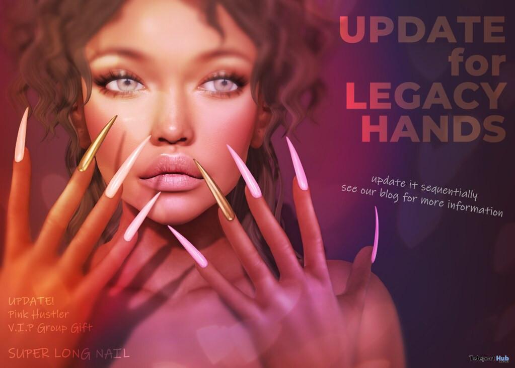 Super Long Nails For Legacy Hands June 2020 Group Gift by Pink Hustler - Teleport Hub - teleporthub.com